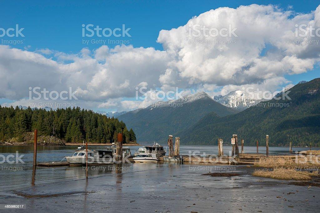 Pitt Lake stock photo