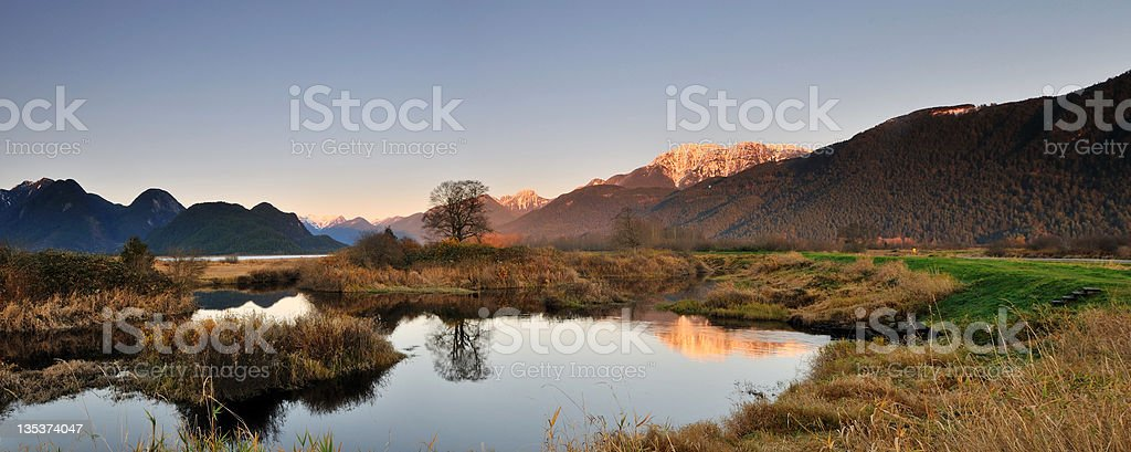 Pitt Polder Autumn sunset stock photo