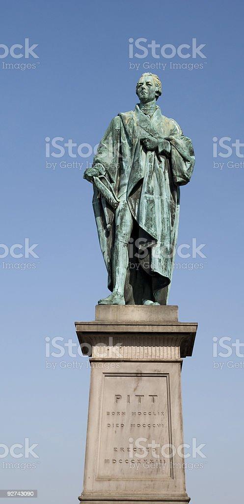 Pitt Statue stock photo