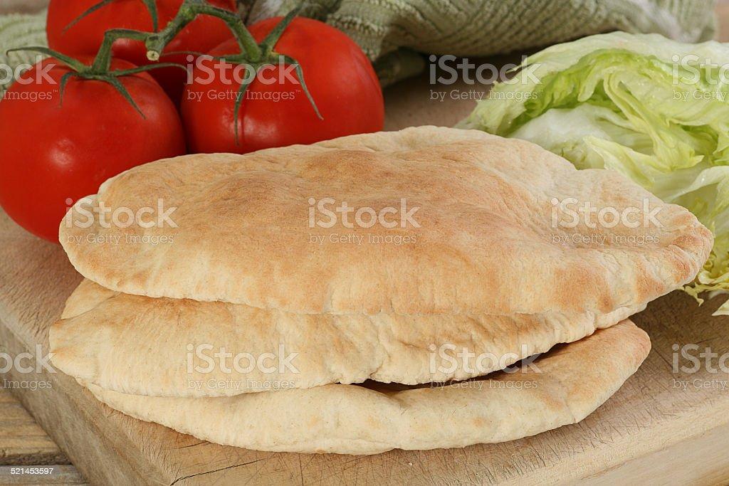 pitta bread stock photo