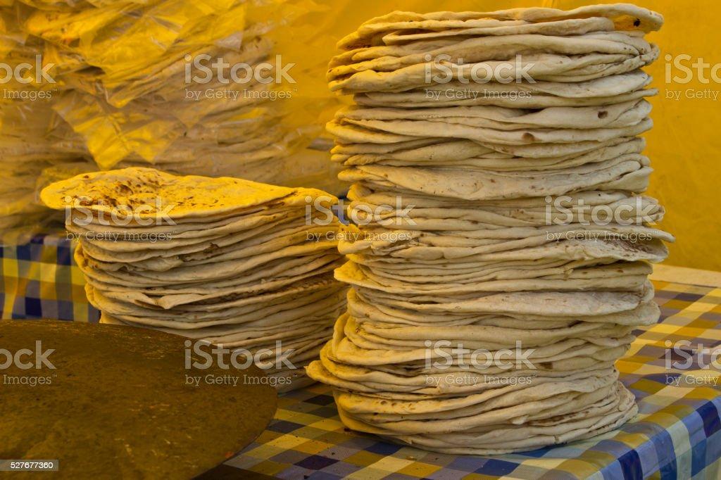 Pitta Breads at a Fair stock photo
