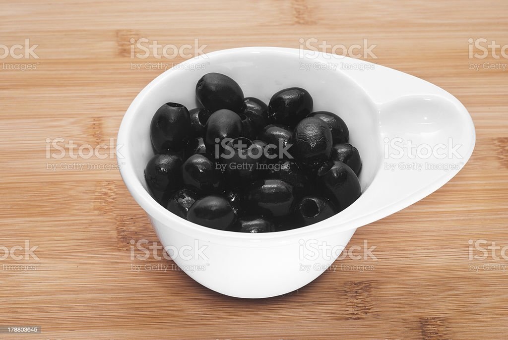 Pitted black olives royalty-free stock photo