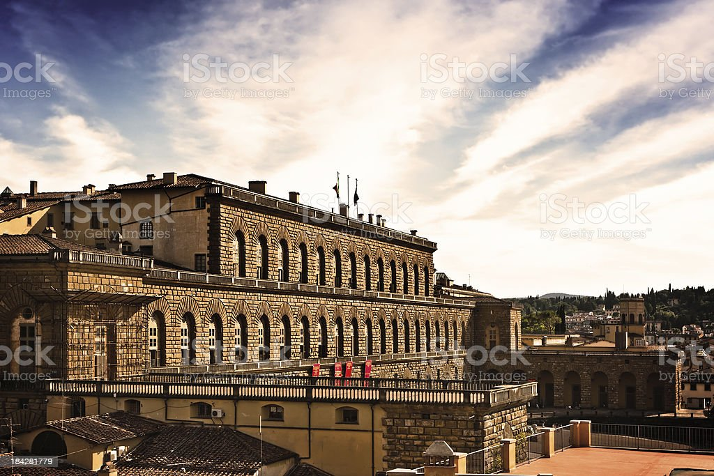 Pitti Palace in Firenze, Italian Renaissance Architecture stock photo