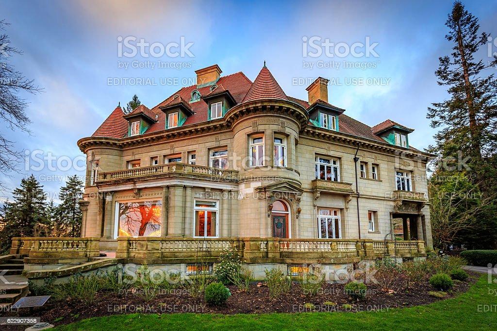 Pittock Mansion stock photo