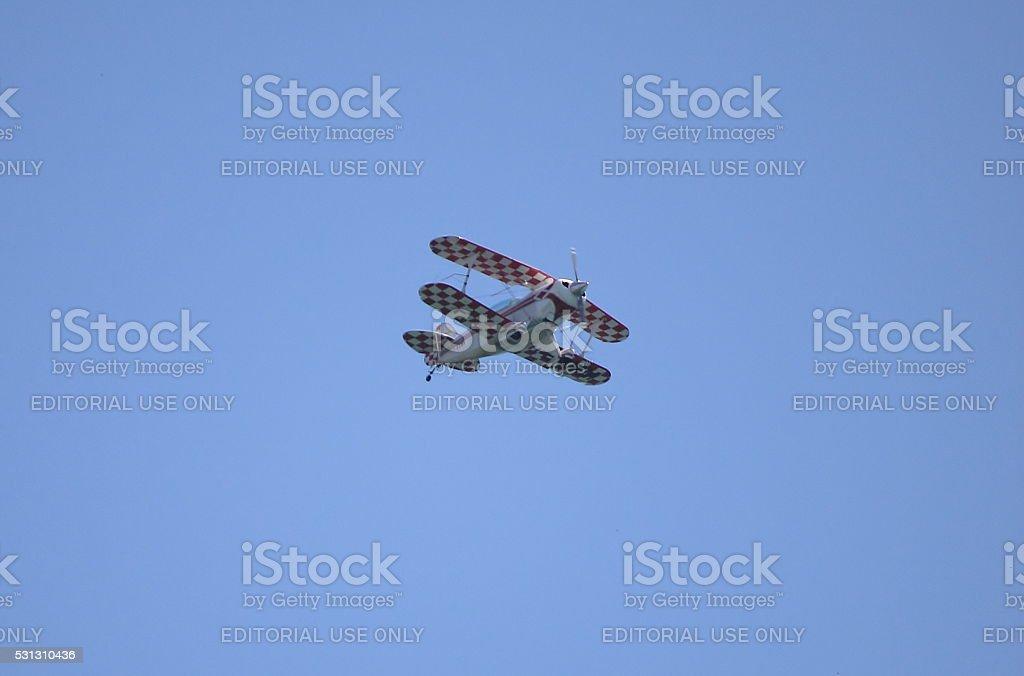Pitts aerobatic biplane stock photo