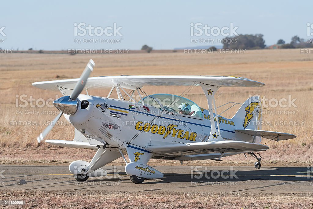 Pitts Special aircraft stock photo