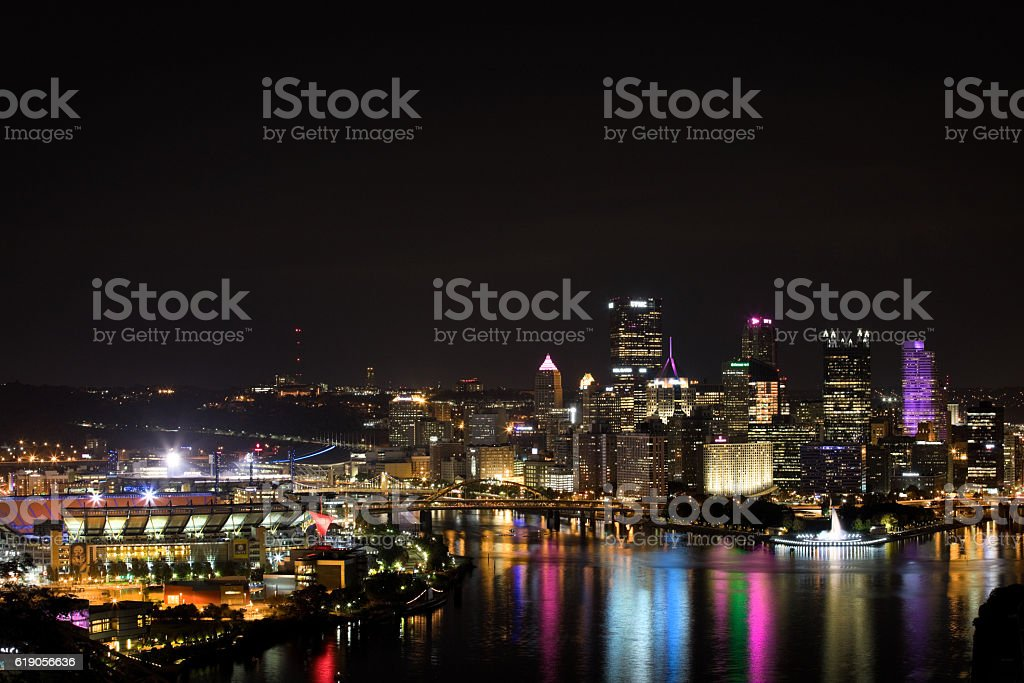Pittsburgh And North Shore stock photo