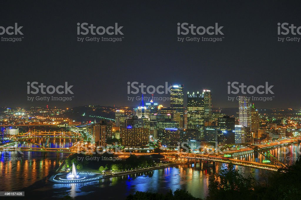 Pittsburgh at Night stock photo