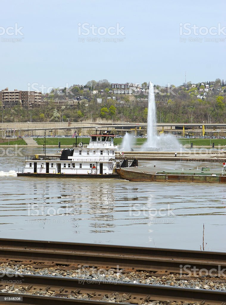 Pittsburgh Barge stock photo