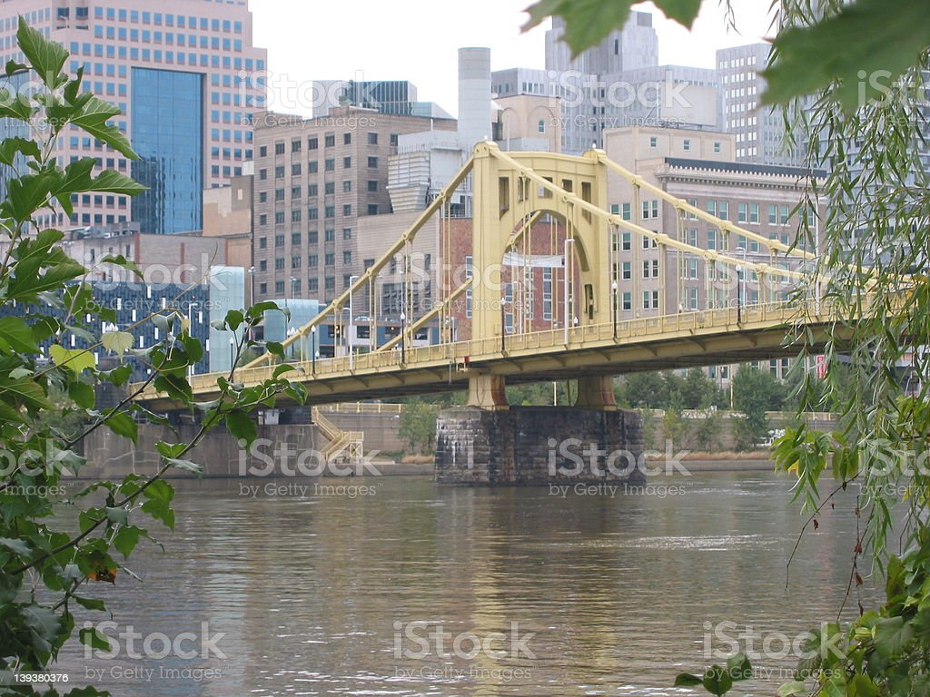 pittsburgh bridge stock photo