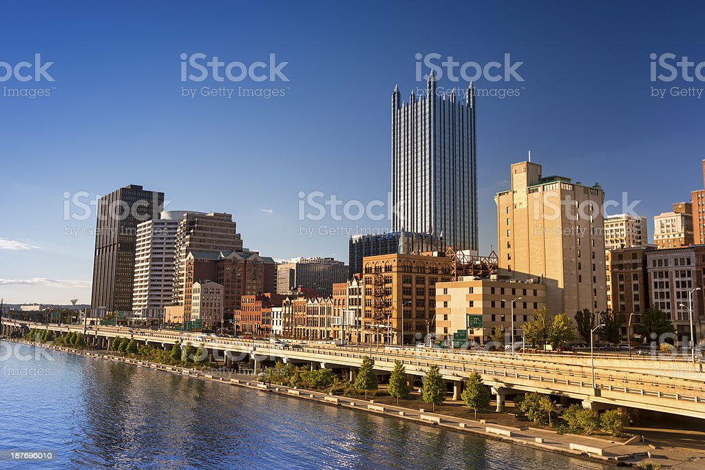 Pittsburgh city center stock photo