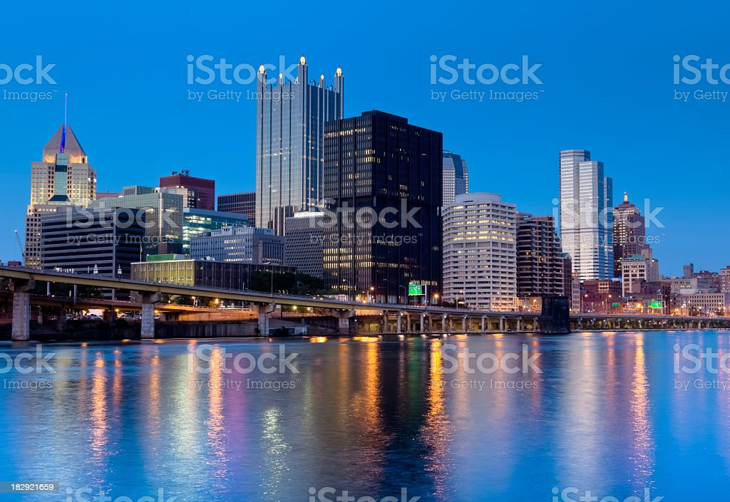Pittsburgh at Dusk stock photo