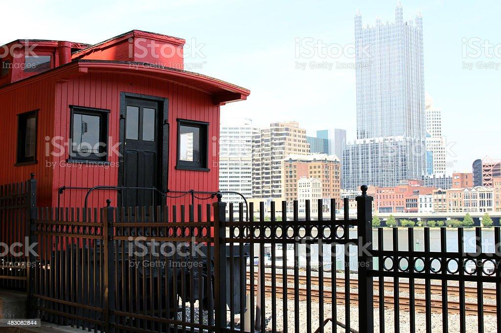 Pittsburgh City Rail Train stock photo