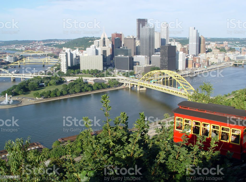Pittsburgh from Duquesne Incline royalty-free stock photo