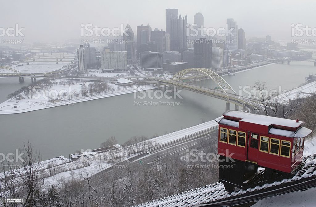 Pittsburgh from Duquesne Incline stock photo