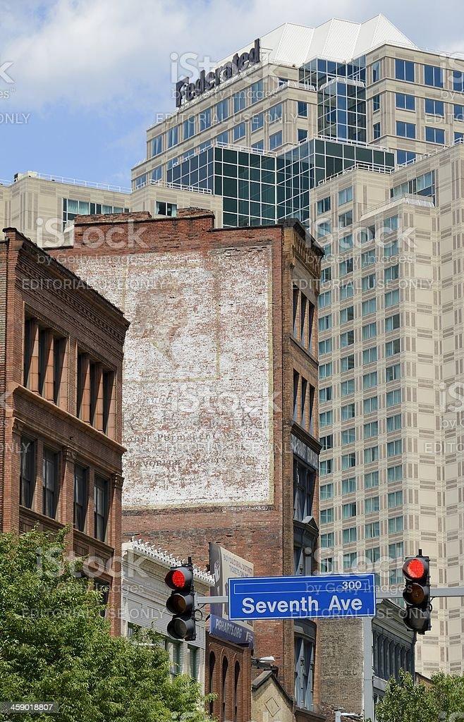 Pittsburgh Neighborhood stock photo