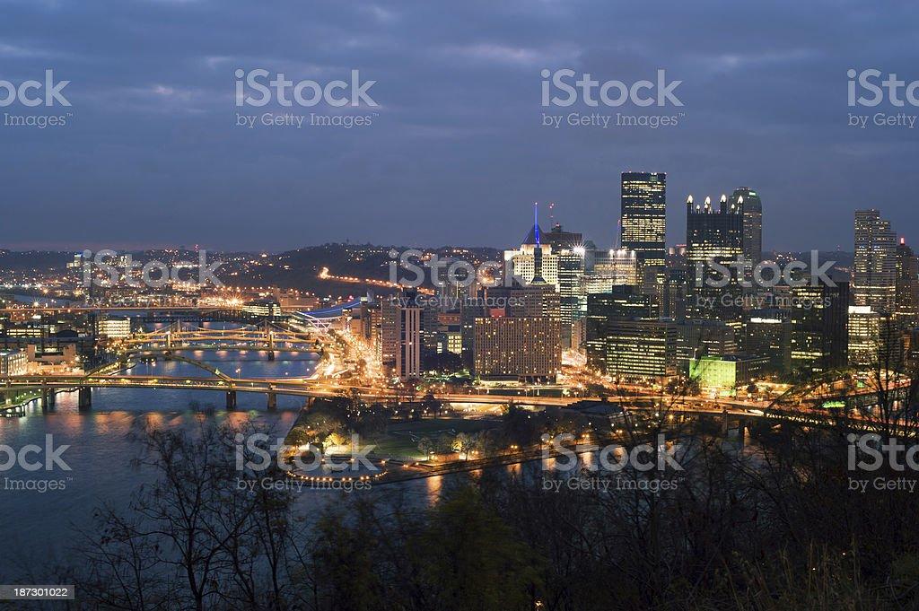 Pittsburgh panorama stock photo