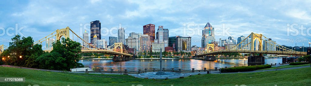 Pittsburgh, Pennsylvania At Night stock photo
