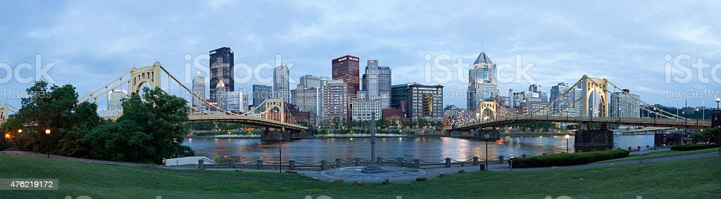 Pittsburgh, Pennsylvania Panorama stock photo