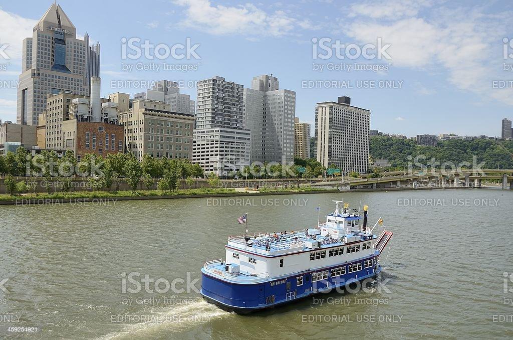 Pittsburgh Riverfront royalty-free stock photo