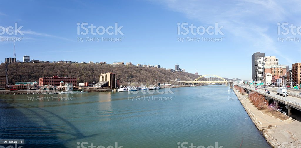 Pittsburgh Skyline Cityscape stock photo