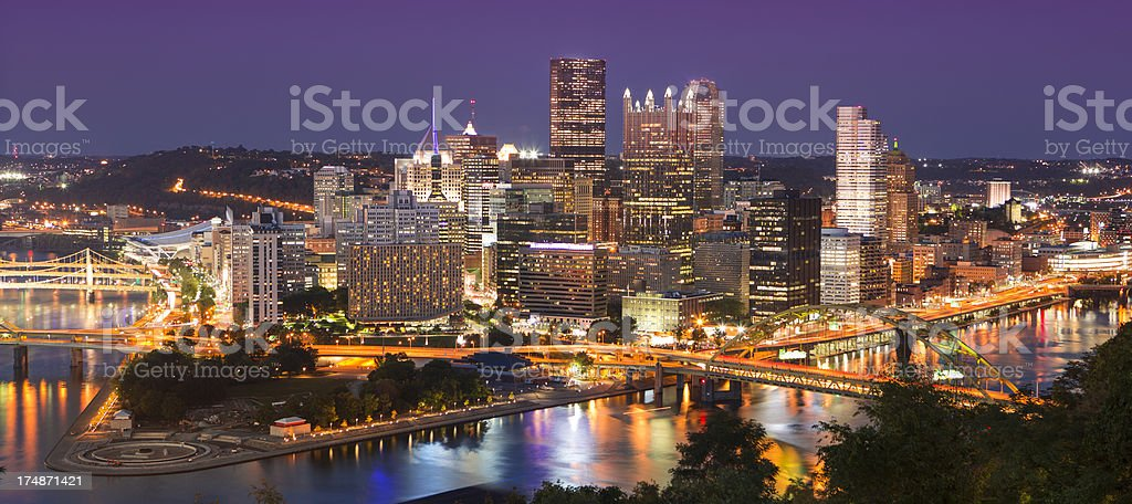 Pittsburgh Skyline panorama stock photo