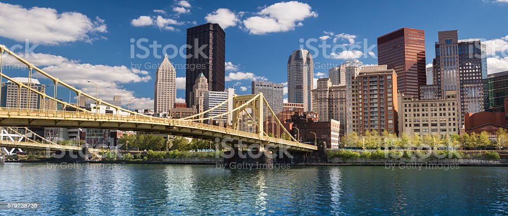 Pittsburgh Skyline panorama stock photo