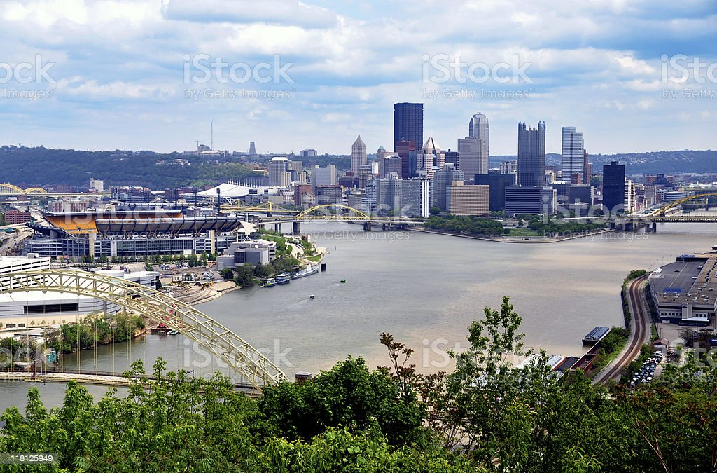 Pittsburgh Skyline royalty-free stock photo