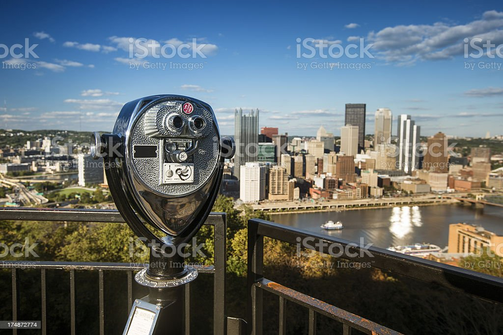 Pittsburgh view point stock photo