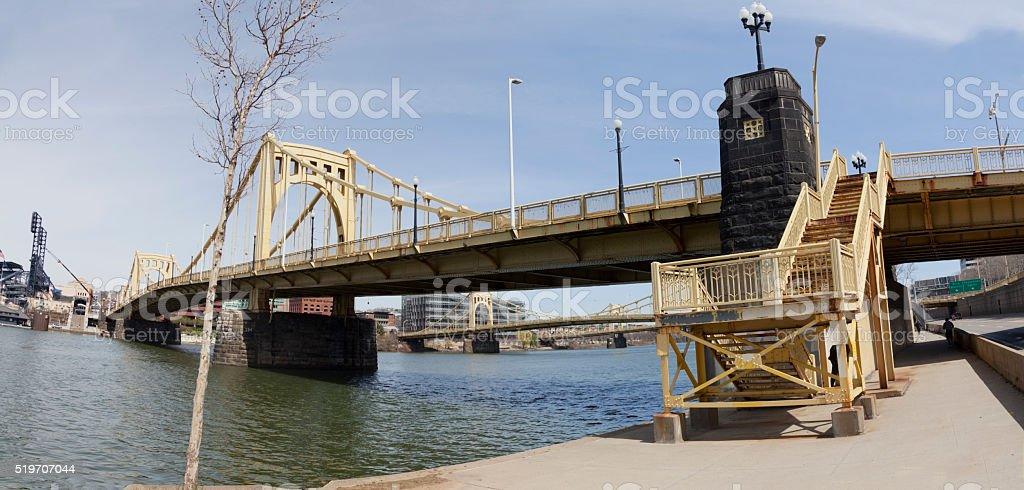 Pittsburg's Roberto Clemente Bridge stock photo