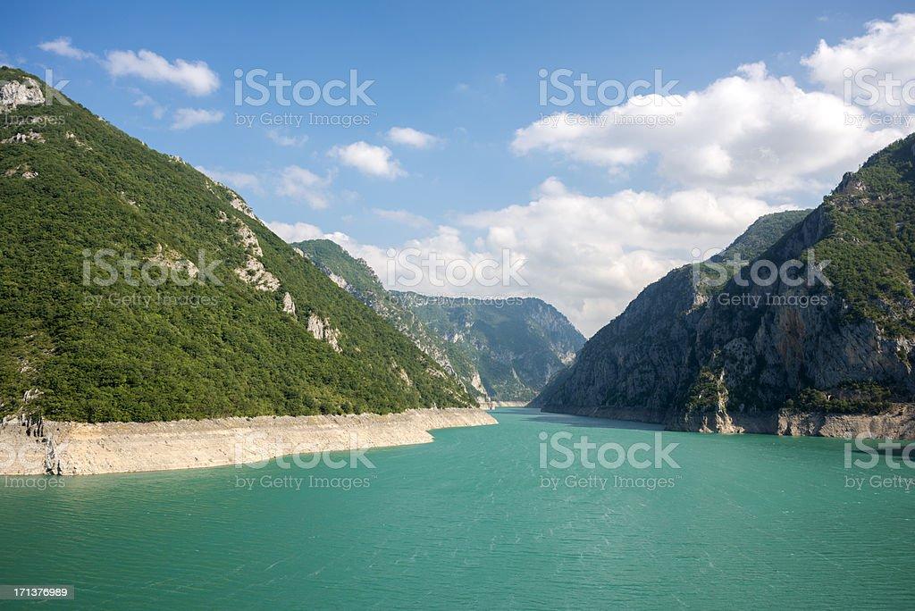 Piva River Canyon stock photo