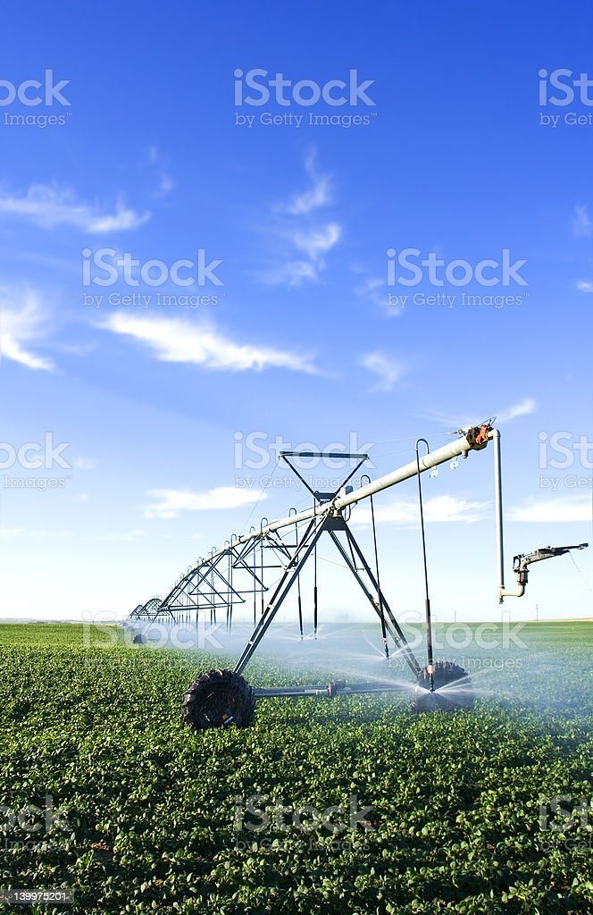 Pivot spray stock photo