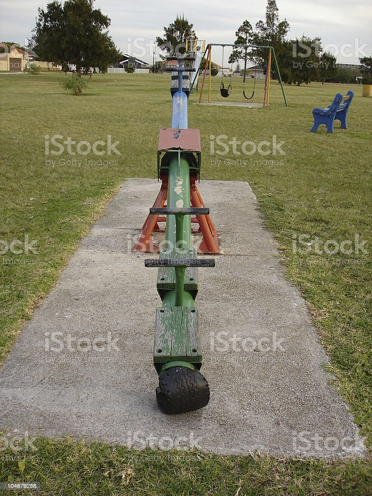 Pivotal See Saw - REQUEST royalty-free stock photo