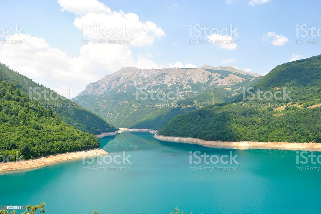 Pivsko Lake, Czarnogóra. zbiór zdjęć royalty-free