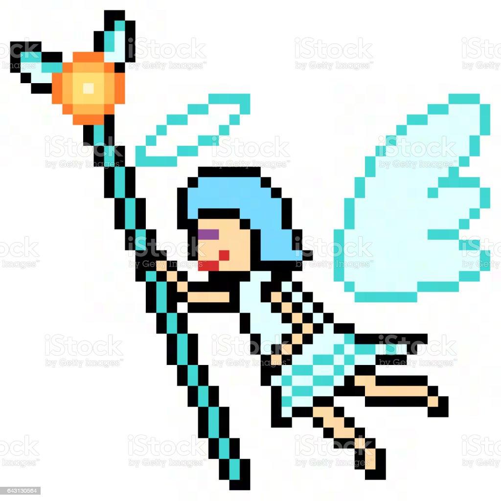 pixel art angel stock photo