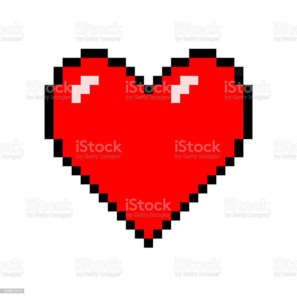 Pixel Heart stock photo