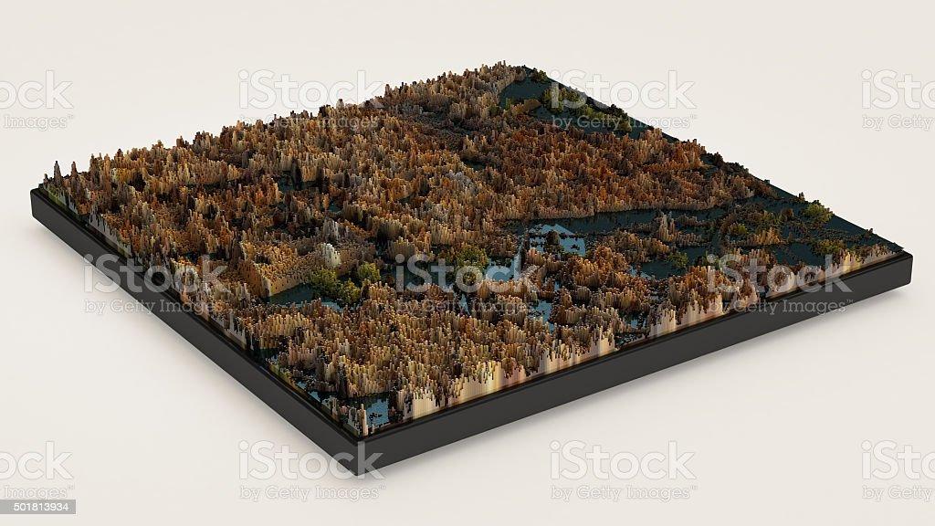 Pixel landscape stock photo