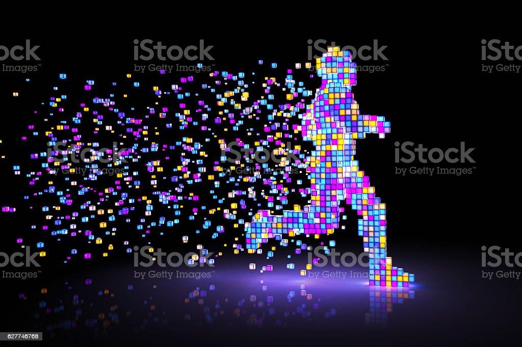Pixel Man stock photo