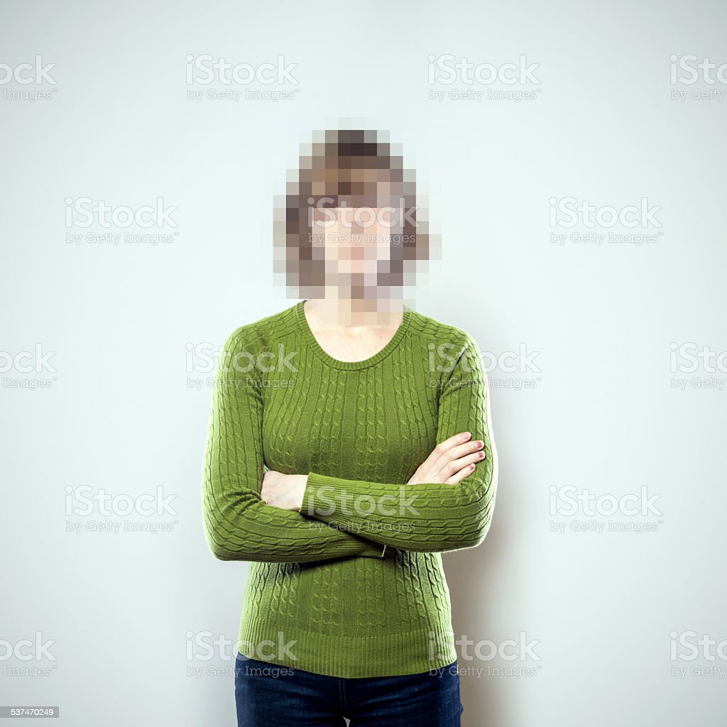 Pixel People Series stock photo