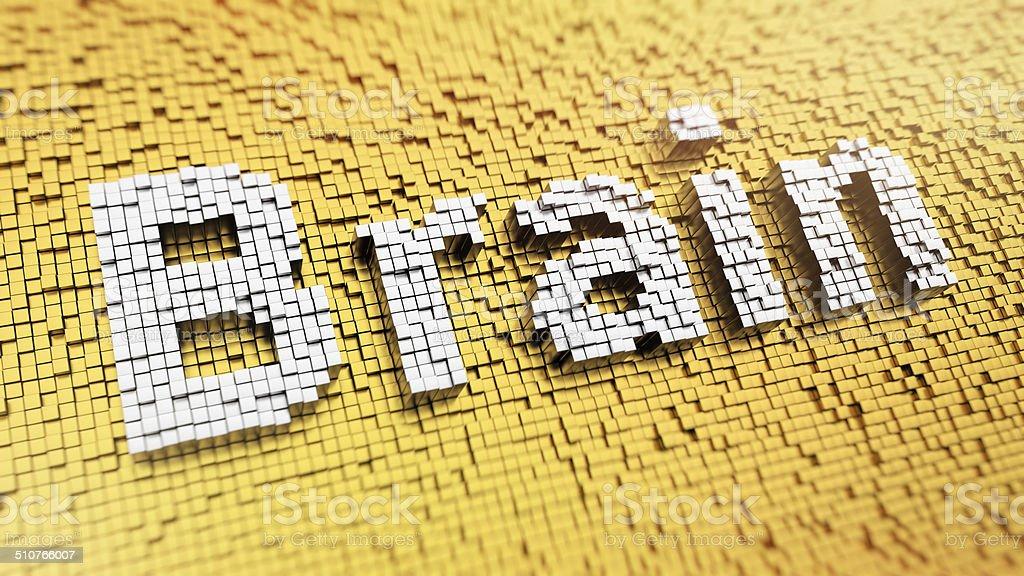 Pixelated Brain stock photo
