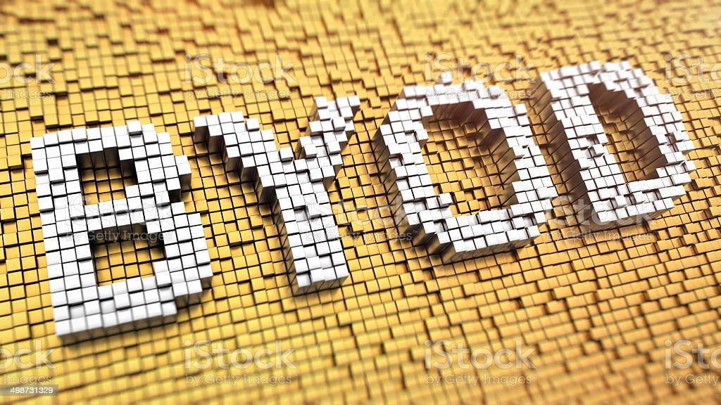 Pixelated BYOD stock photo