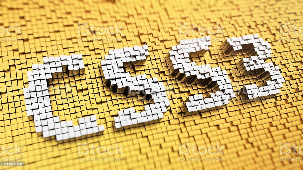 Pixelated CSS3 stock photo