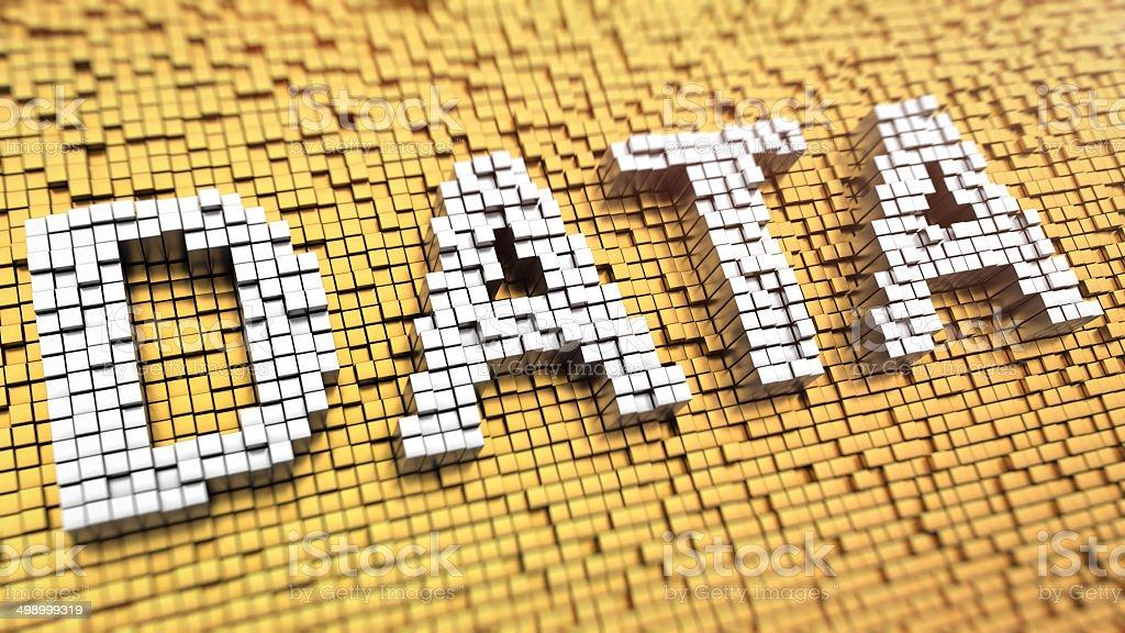 Pixelated DATA stock photo