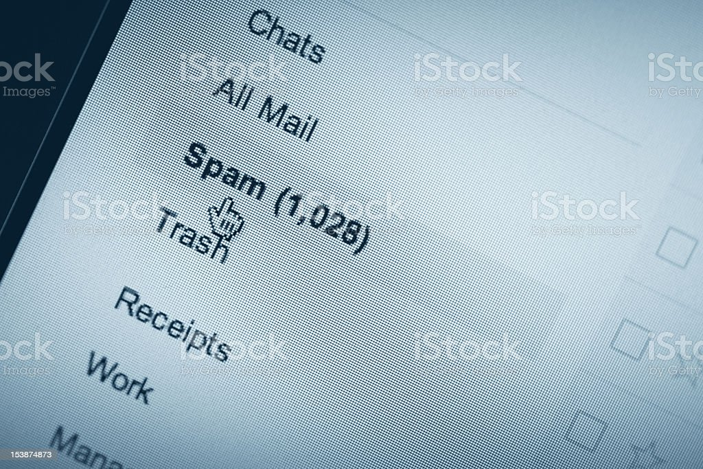 Pixelated E-mail Spam Screenshot stock photo