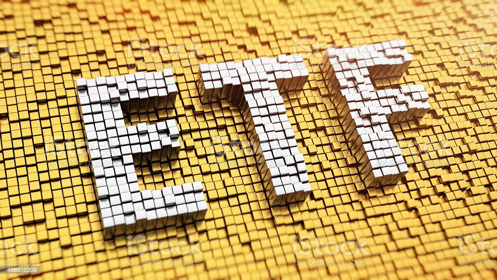 Pixelated ETF stock photo