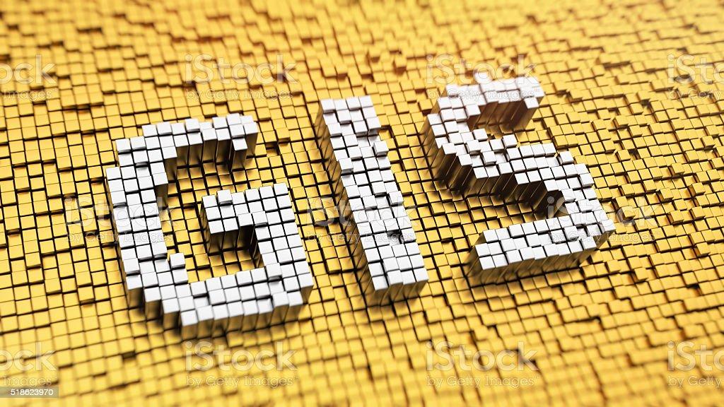 Pixelated GIS stock photo
