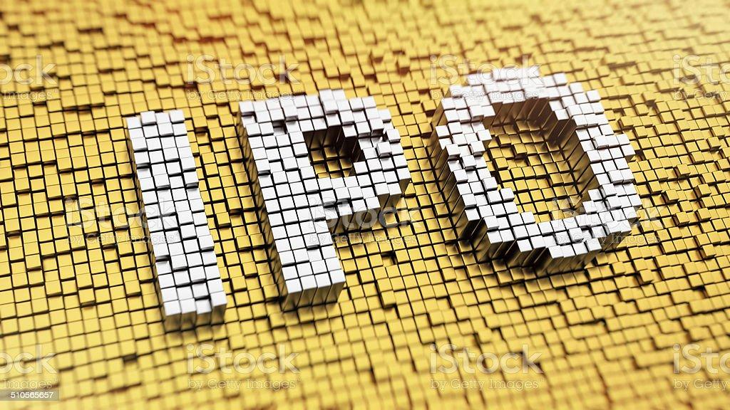 Pixelated IPO stock photo