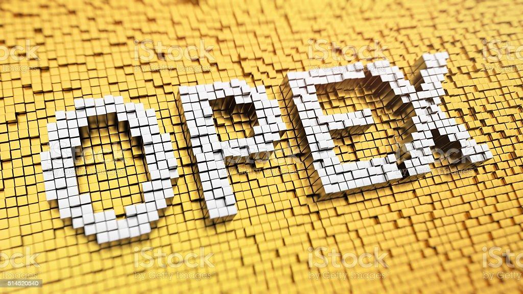 Pixelated OPEX stock photo