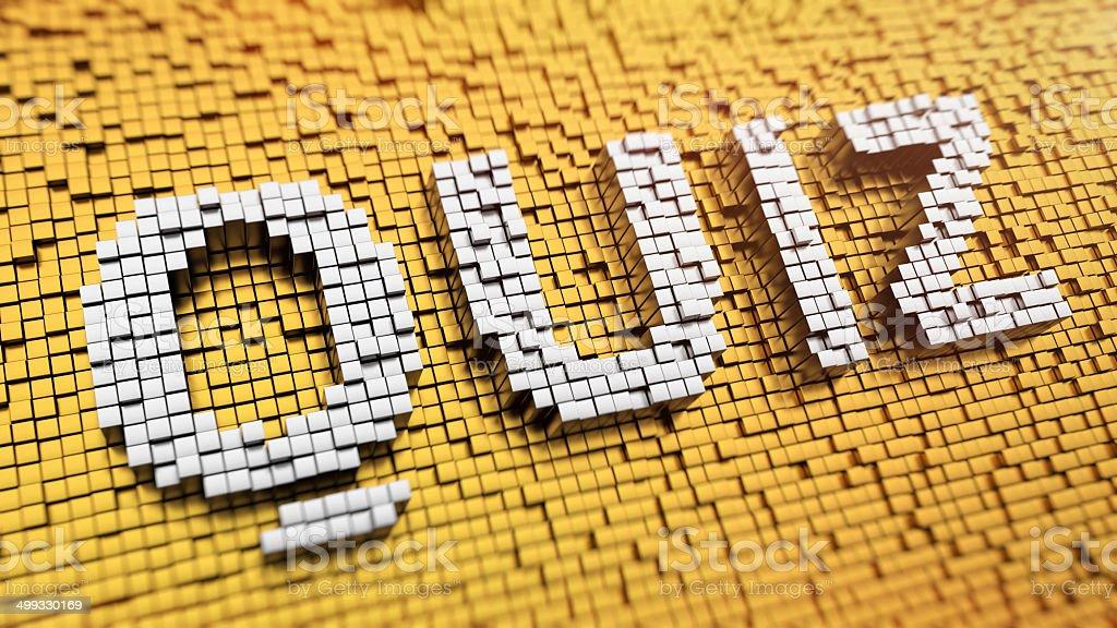 Pixelated QUIZ royalty-free stock photo