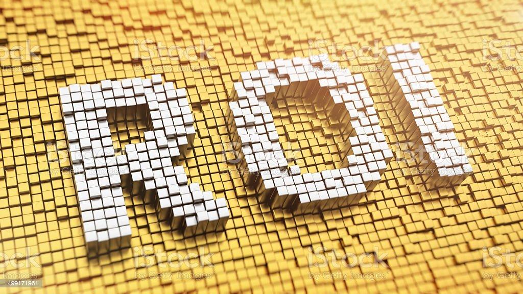 Pixelated ROI stock photo